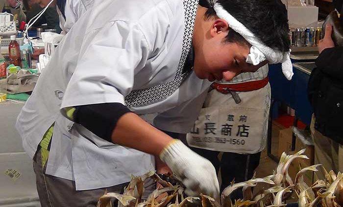 Suggestione e paradosso Shinjuku tokio mercato del pesce