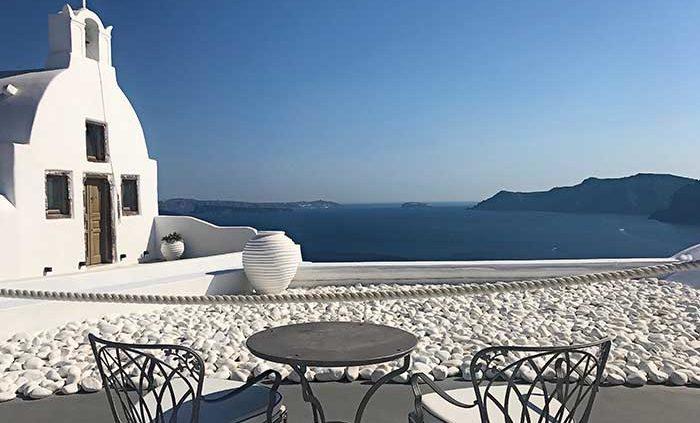 la grecia vista dal mare santorini fira cicladi