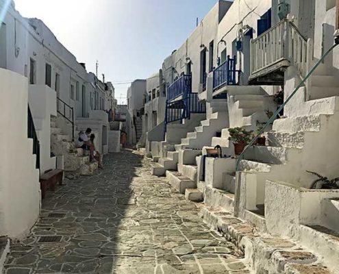 la grecia vista dal mare kastro folegandros cicladi