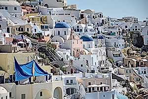 la grecia vista dal mare oia santorini cicladi