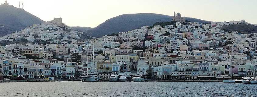 syros porto Vacanze Grecia 2018, la Grecia vista dal mare